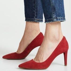 Michael Kors Dorothy Flex Pump Suede Red Berry 6